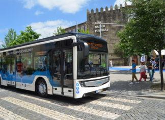 autocarro elétrico, Guimarães, CaetanoBus