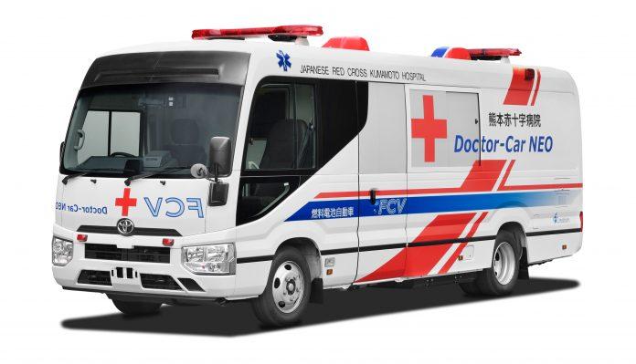 exterior de ambulância a hidrogénio